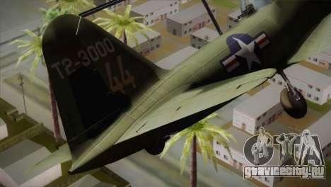 ИЛ-10 United States Air Force для GTA San Andreas вид сзади слева