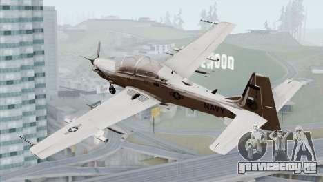 Embraer A-29B Super Tucano Navy White для GTA San Andreas вид слева