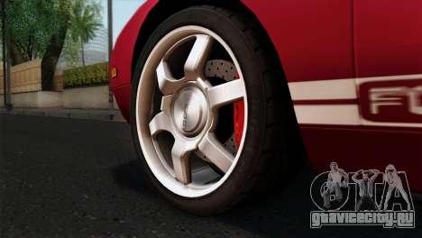 Ford GT FM3 Rims для GTA San Andreas вид сзади слева