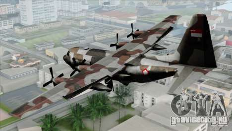 C-130B Indonesian Air Force (TNI AU) для GTA San Andreas вид слева