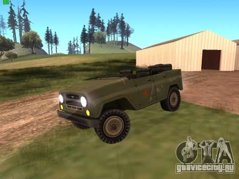 УАЗ военный для GTA San Andreas