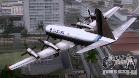 L-188 Electra Eastern Als для GTA San Andreas вид слева