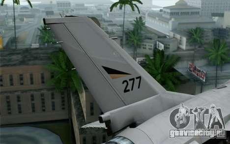 F-16 Fighting Falcon RNoAF для GTA San Andreas вид сзади слева