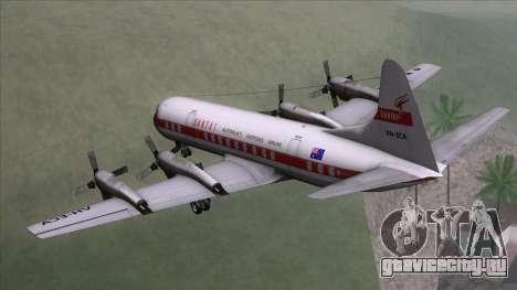 L-188 Electra Qantas для GTA San Andreas вид слева