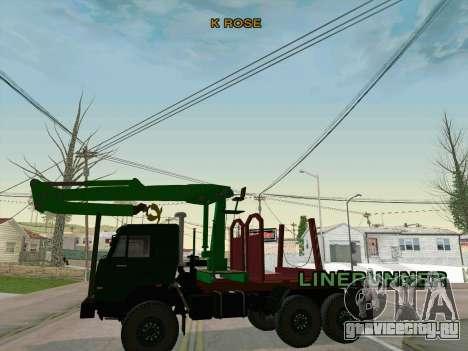 КамАЗ 44108 Лесовоз для GTA San Andreas вид сзади
