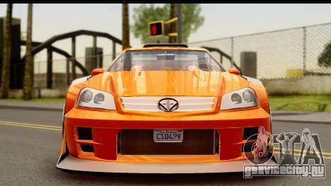 GTA 5 Benefactor Feltzer для GTA San Andreas вид сзади слева