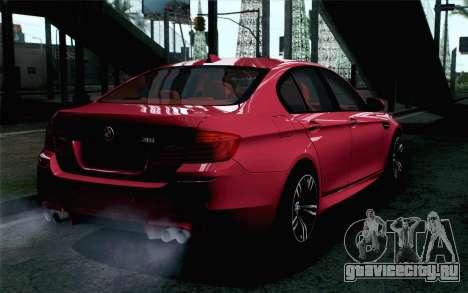 BMW M5 F10 2012 Stock для GTA San Andreas вид слева