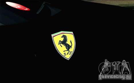 Ferrari F12 Berlinetta для GTA San Andreas вид сзади