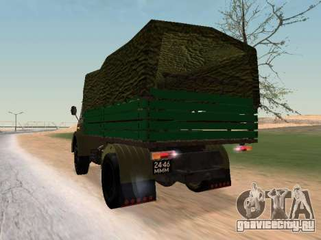 МАЗ 503 для GTA San Andreas вид сзади слева
