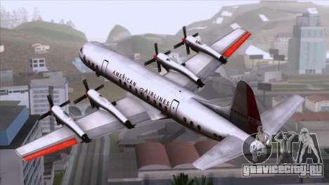 L-188 Electra American Als для GTA San Andreas вид слева