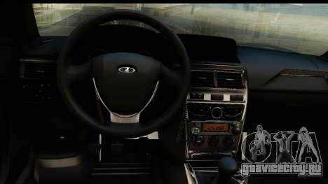 ВАЗ 2170 ППСП для GTA San Andreas вид сзади