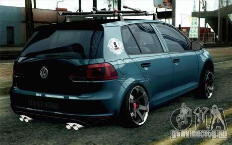 Volkswagen Golf для GTA San Andreas вид слева