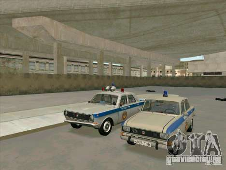 Москвич 2140 Милиция для GTA San Andreas вид сзади слева