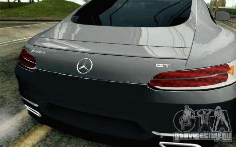 Mercedes-Benz AMG GT 2015 для GTA San Andreas вид сзади