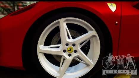 Ferrari 458 Italia для GTA San Andreas вид сзади