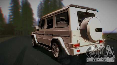 Mercedes-Benz G65 2013 AMG Body для GTA San Andreas вид сзади слева