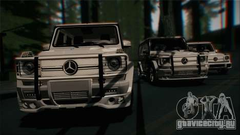 Mercedes-Benz G65 2013 Stock body для GTA San Andreas вид сверху