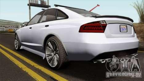 GTA 5 Obey Tailgater IVF для GTA San Andreas вид слева