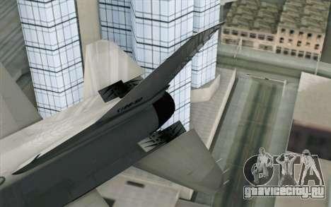 Mitsubishi F-2 Blue JASDF Skin для GTA San Andreas вид сзади слева
