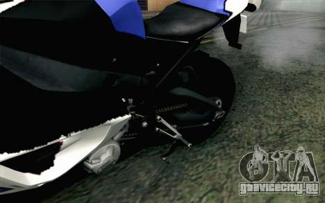 BMW S1000RR HP4 v2 Blue для GTA San Andreas вид сзади