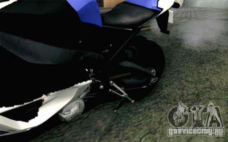 BMW S1000RR HP4 v2 Blue для GTA San Andreas вид сзади