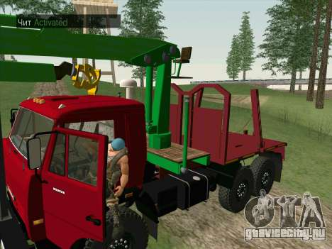 КамАЗ 44108 Лесовоз для GTA San Andreas вид изнутри