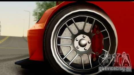 GTA 5 Benefactor Feltzer для GTA San Andreas вид сзади