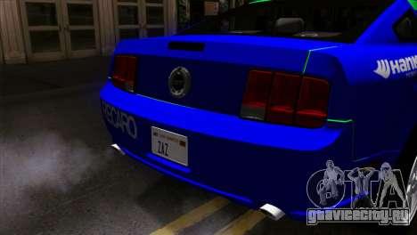 Ford Mustang GT Wheels 2 для GTA San Andreas вид сзади
