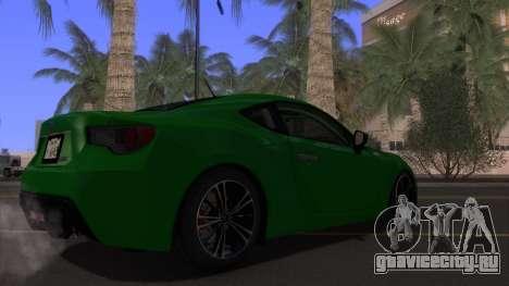 Scion FR-S 2013 Stock v2.0 для GTA San Andreas вид сверху