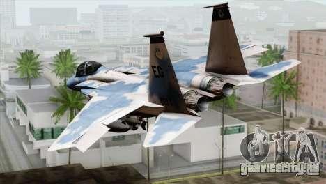 F-15E Artic Blue для GTA San Andreas вид слева