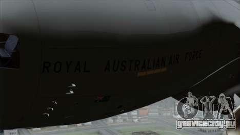 C-17A Globemaster III RAF для GTA San Andreas вид справа
