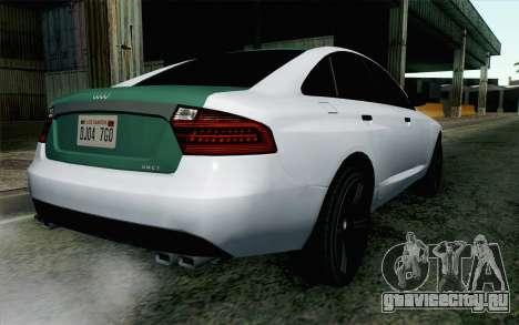 GTA 5 Obey Tailgater v2 IVF для GTA San Andreas вид слева