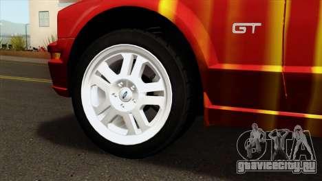 Ford Mustang GT PJ для GTA San Andreas вид сзади слева