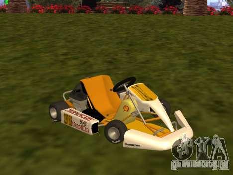 Kart per XiorXorn для GTA San Andreas вид слева