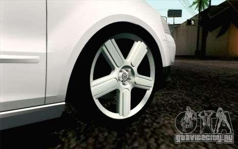 Volkswagen Fox для GTA San Andreas вид сзади слева