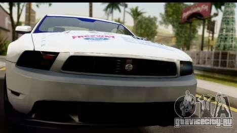 Ford Mustang 2010 Cobra Jet для GTA San Andreas вид сзади слева
