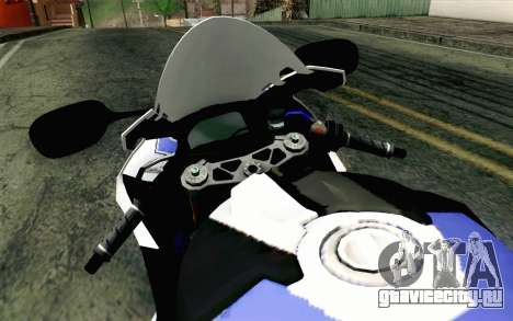BMW S1000RR HP4 v2 Blue для GTA San Andreas вид справа