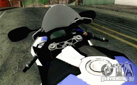 BMW S1000RR HP4 v2 Blue для GTA San Andreas вид справа