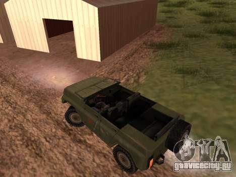 УАЗ военный для GTA San Andreas вид справа