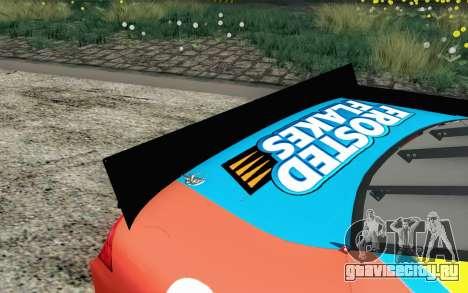 NASCAR Ford Fusion 2012 Short Track для GTA San Andreas вид сзади