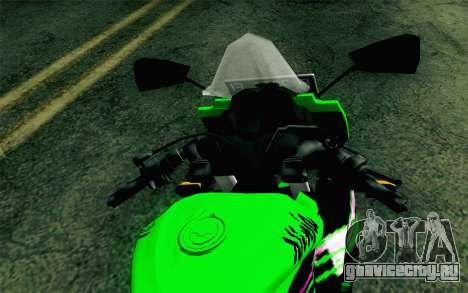 Kawasaki Ninja 250RR Mono Green для GTA San Andreas вид справа