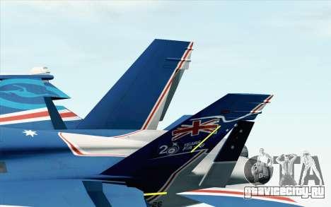 F-18D RAAF 20th Anniversary для GTA San Andreas вид сзади слева
