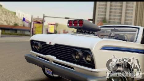 GTA 5 Vapid Blade v2 IVF для GTA San Andreas вид сзади слева