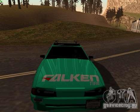 Elegy Falken Team Vinyl для GTA San Andreas вид слева