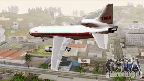 Lookheed L-1011 TWA для GTA San Andreas вид слева