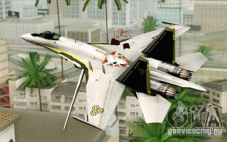 Sukhoi SU-27 Macross Frontier для GTA San Andreas вид слева