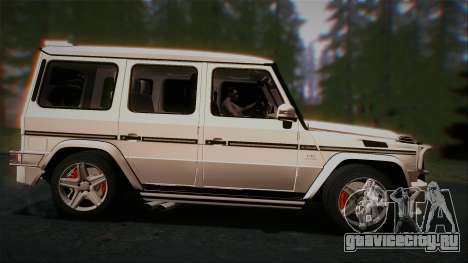 Mercedes-Benz G65 2013 AMG Body для GTA San Andreas вид сзади