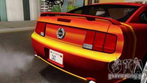 Ford Mustang GT PJ для GTA San Andreas вид сзади