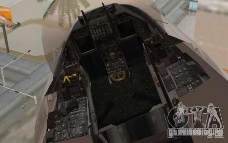 F-16 Fighting Falcon RNoAF для GTA San Andreas вид справа