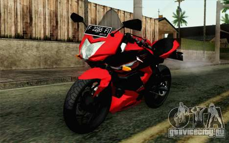 Kawasaki Ninja 250RR Mono Red для GTA San Andreas